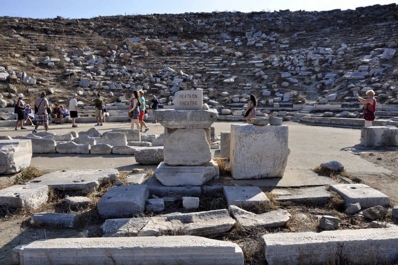 Theatre at Delos, Greece