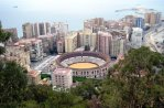 View of Malaga's Bullring from Castillo de Gibralfaro