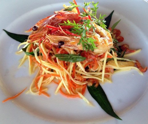 Green Papaya Prawn Salad