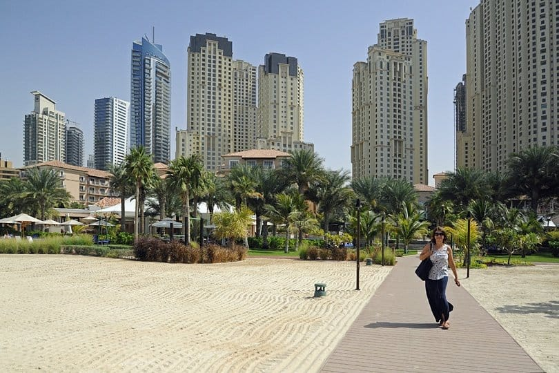Dubai tower blocks
