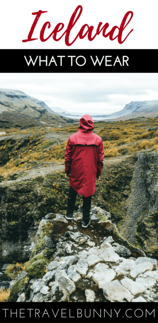 Woman in red raincoat