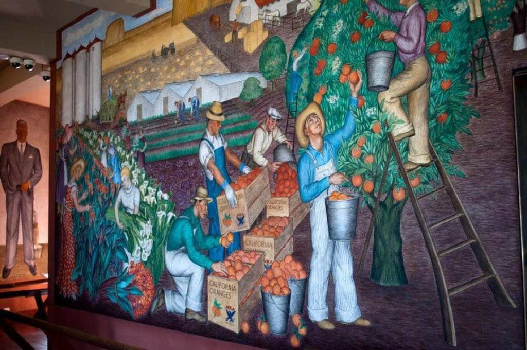San francisco highs at coit tower for Coit tower mural