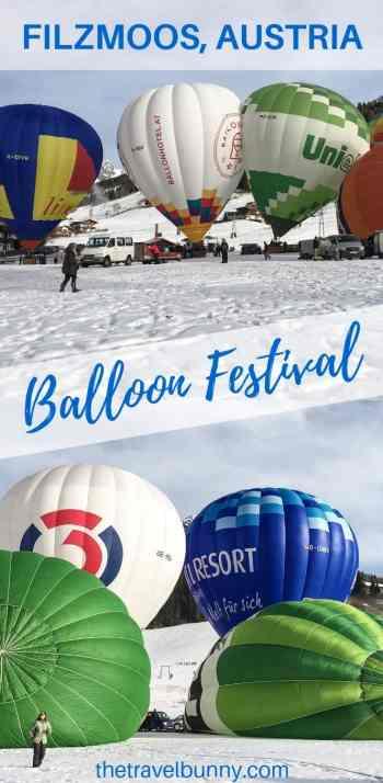 Filzmoos Balloon Festival in the snow