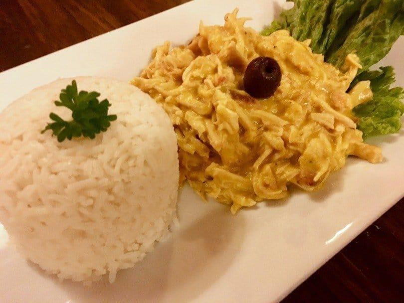 Aji de Gallina Peruvian Dish