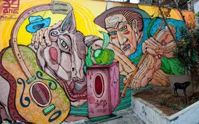 Lima Street Art in The Barranco