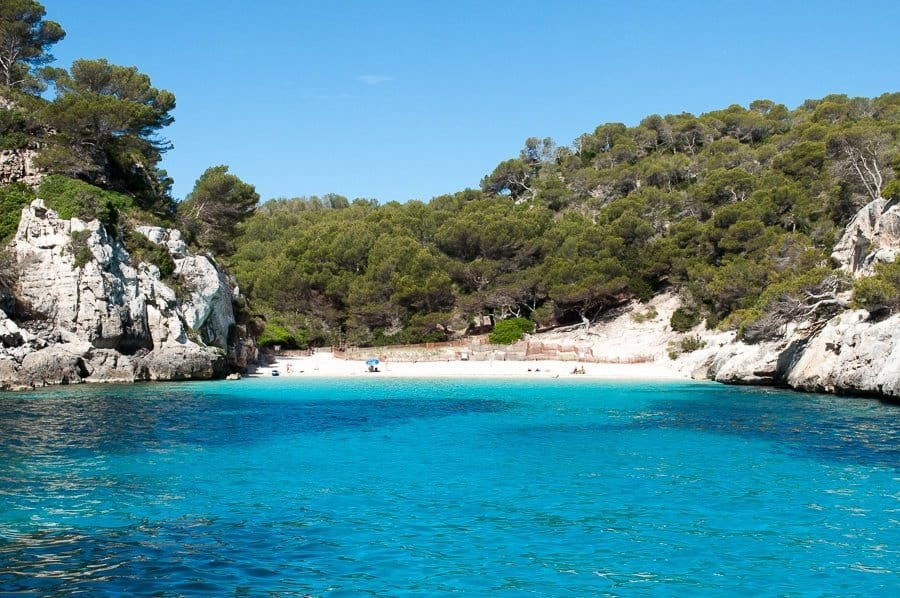 white sand beach Menorca