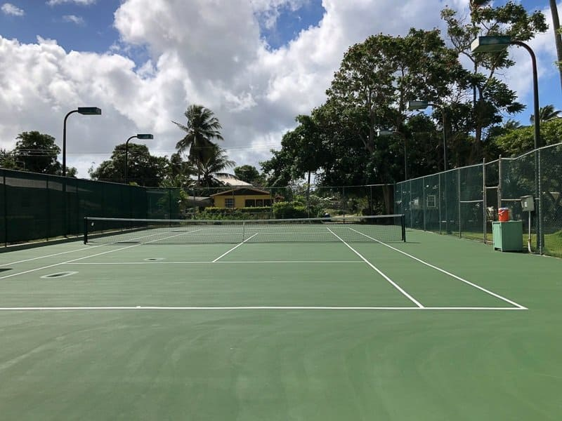 Cobblers Cove Hotel Barbados Tennis Court