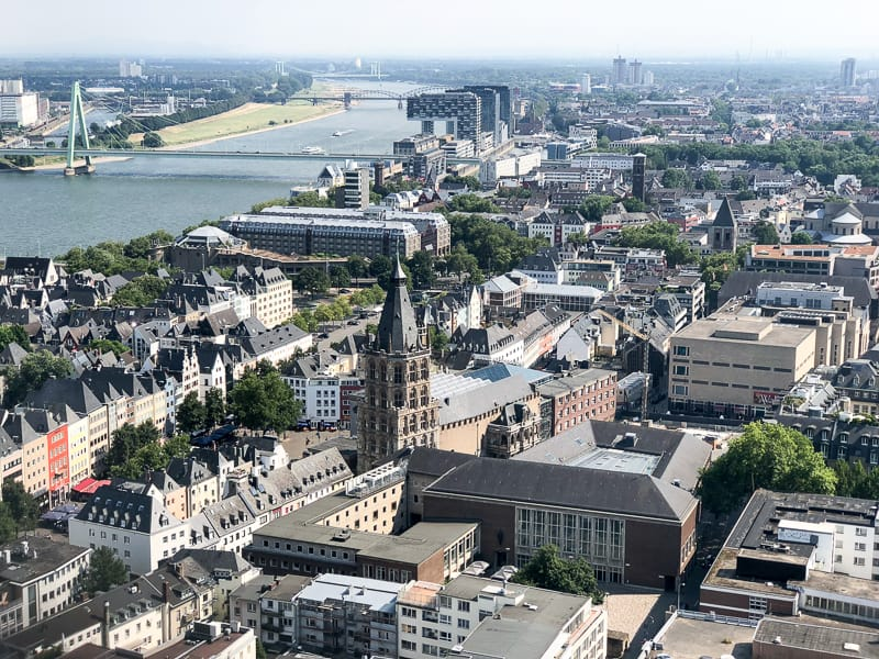 View of Cologne from Cathedral