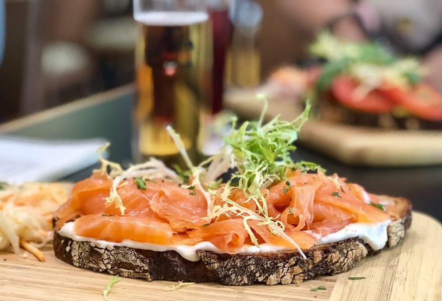 Smoked Salmon on Rye Bread