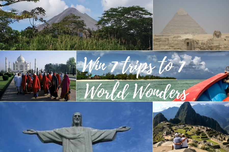 Win a trip to seven World wonders