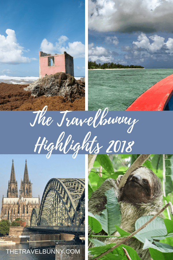 The Travelbunny Travel highlights in 2018 From Rodrigues Island, a weekend break in Paris to Costa Rica and skiing in Italy. #2018 #travelreview #thetravelbunny