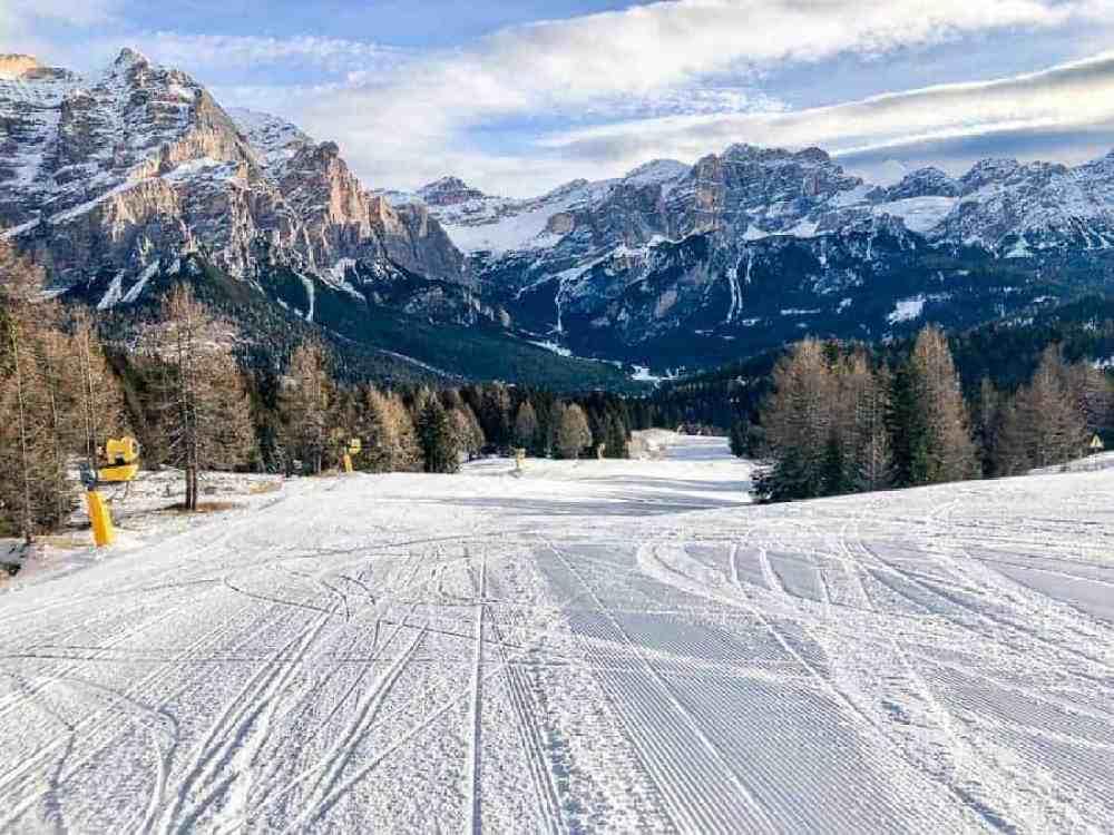 Ski slope in Alta Badia