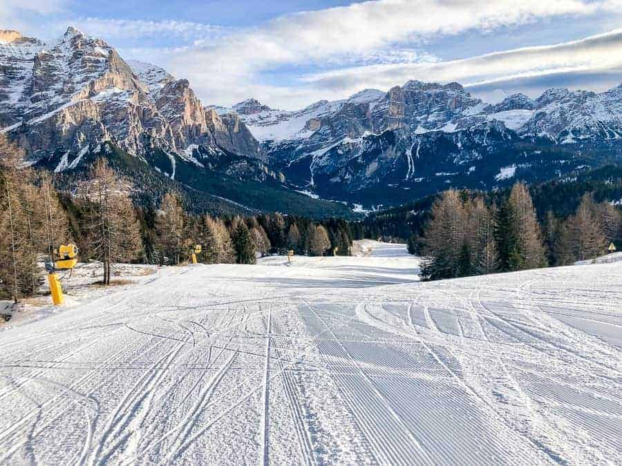 Ski slope in Alta Badia