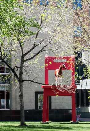Little Horse, Red Chair Sculpture, Denver