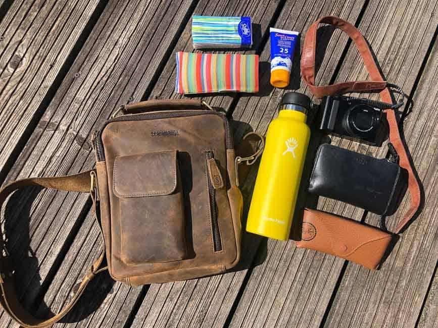 Scaramanga Indy Bag and contents