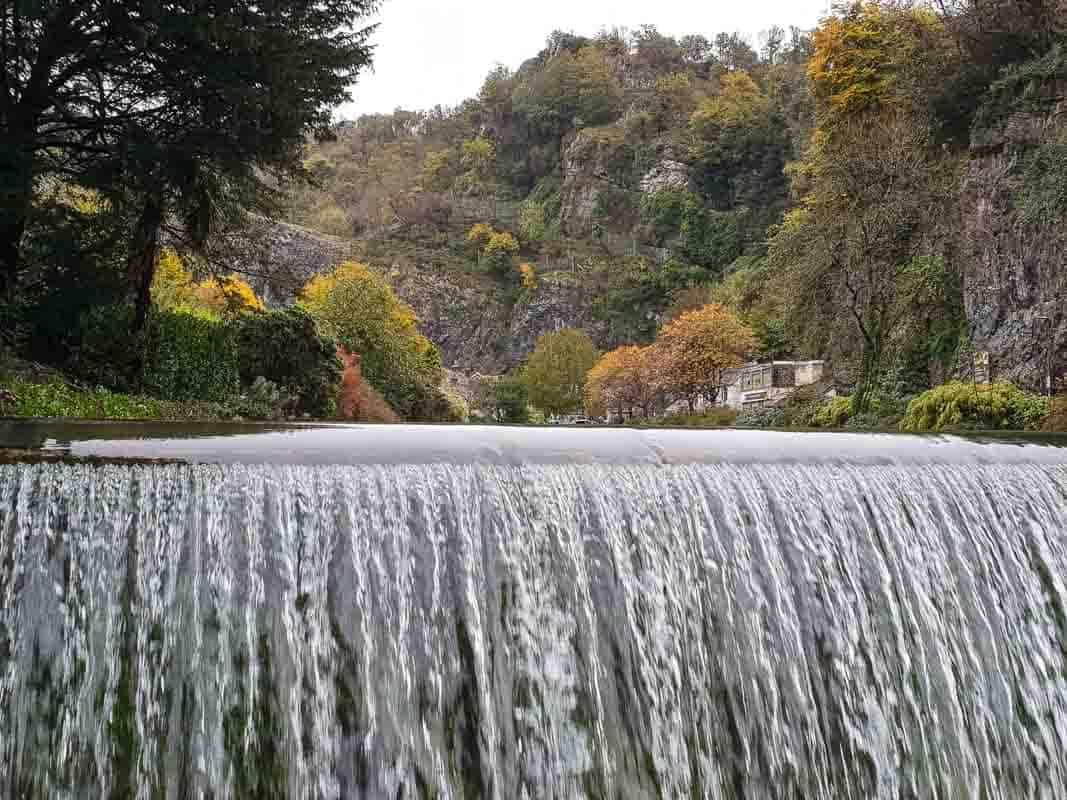 Waterfall at Cheddar Village, Somerset