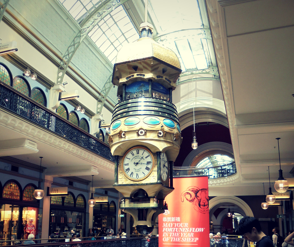 Free things to do in Sydney - Queen Victoria Building Clock