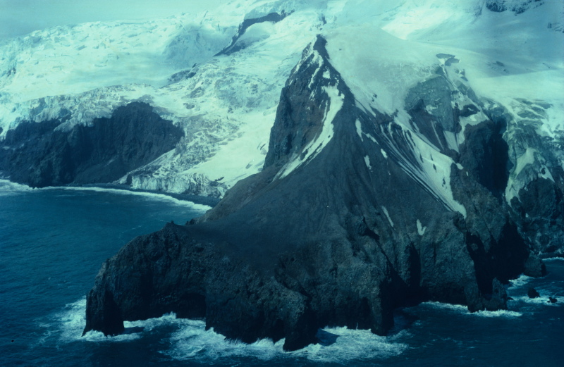 A shot of Bouvet Island from above