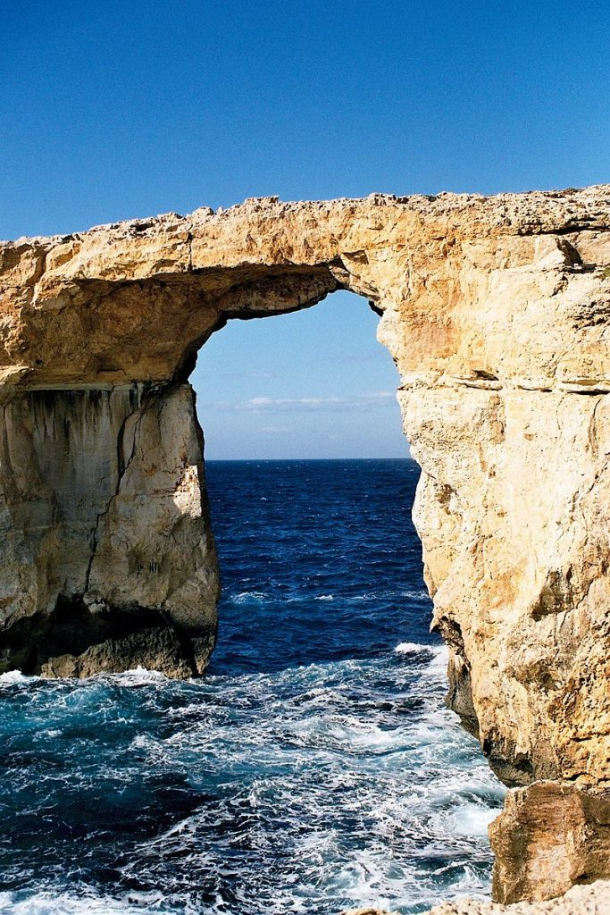 Countries in need: A rock formation of the coast of Gozo, near Malta