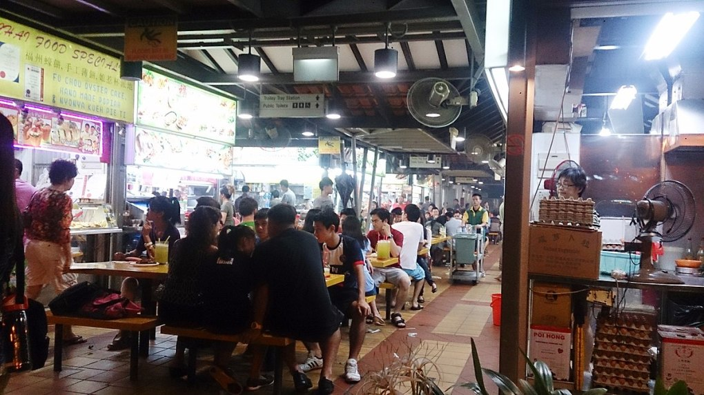 Countries in need: Inside a busy hawker centre in Singapore
