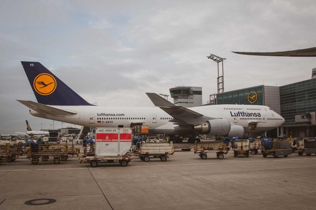 Lufthansa Boeing 747 Strecken Routen