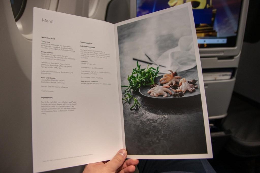 Lufthansa Business Class Essen und Getränke-4