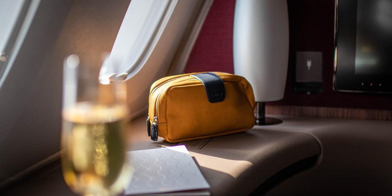 Qatar Airways A380 First Class Annehmlichkeiten