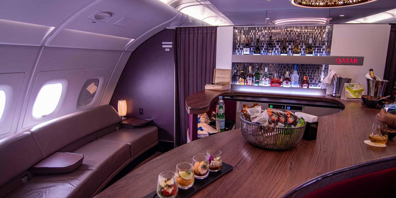 Qatar Airways A380 First Class Bar