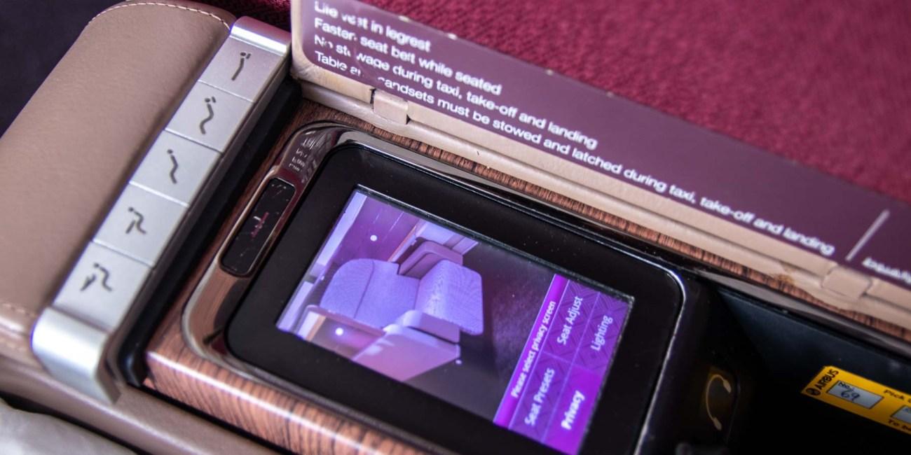 Qatar Airways A380 First Class Inflight Entertainment-3