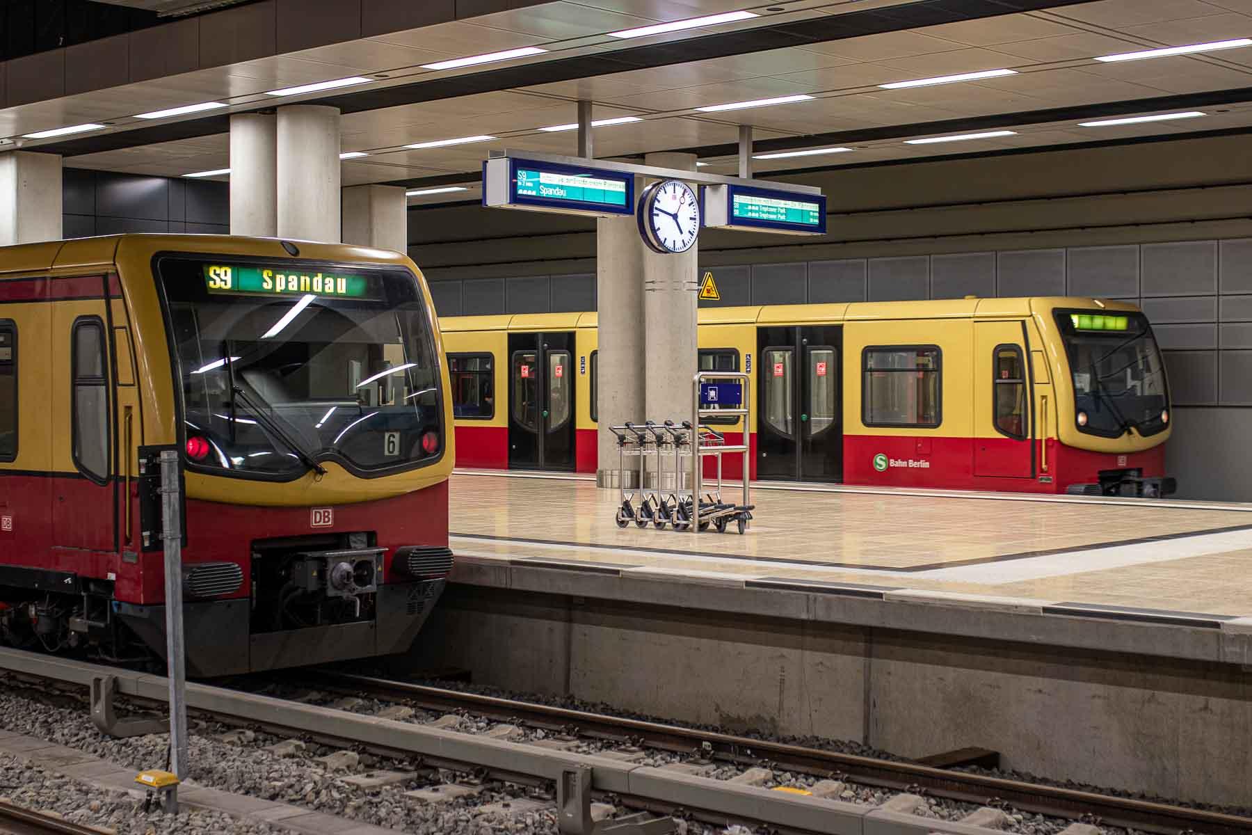 S-Bahnverbindung Linien zum Flughafen BER