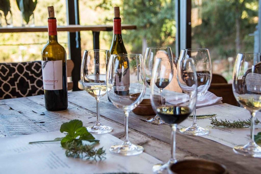 Winetasting Banhoek Valley Bartinney Winery