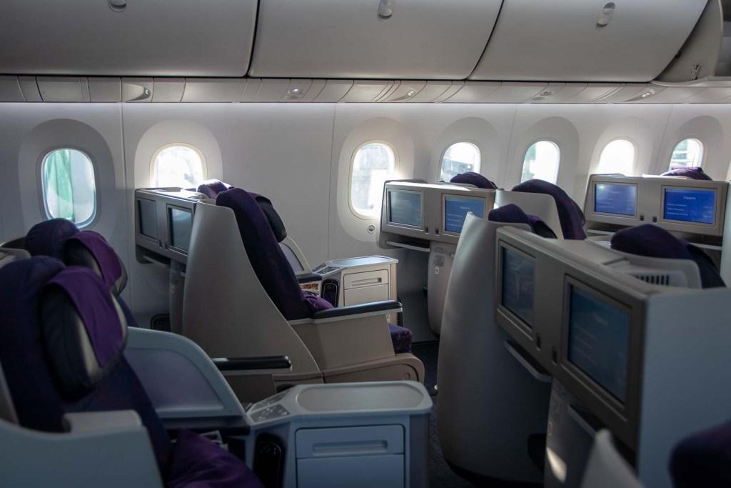 Air China Boeing 787 Business Class Sitz und Kabine