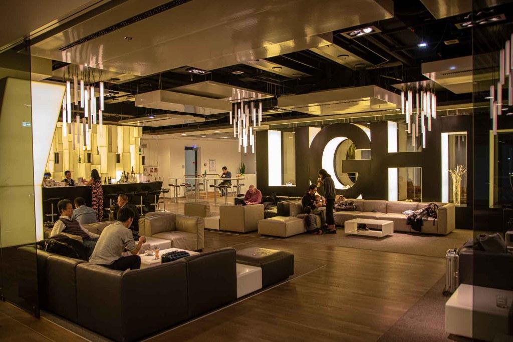 Air China Business Class Lounge Frankfurt Lufthansa SEN Lounge City Lights