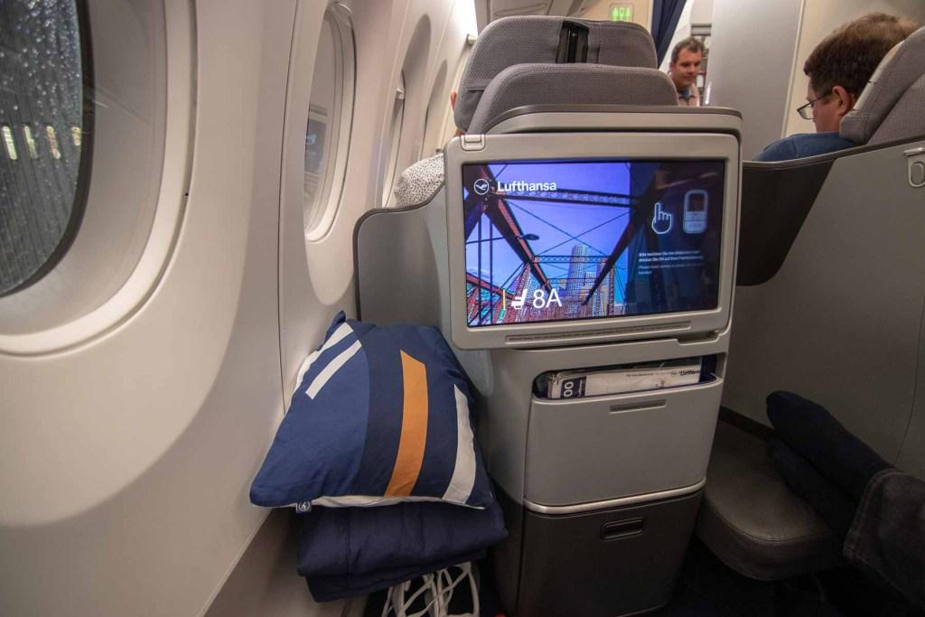 Lufthansa A350 Business Class Kabine und Sitz