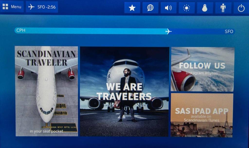 SAS A340 Economy Class Fernsehen TV Programme-4