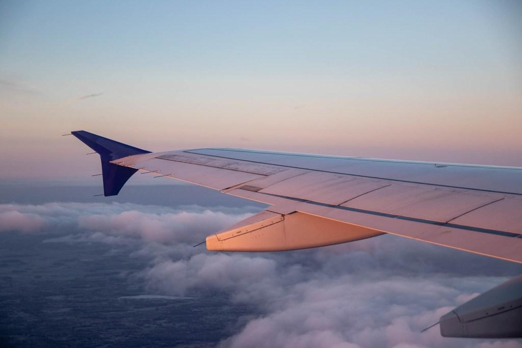SAS Airbus A320 Sonnenaufgang