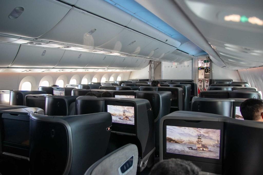 Turkish Airlines Boeing 787 Business Class Kabine-4