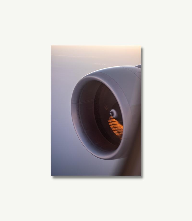 Boeing 777 Poster Flugzeug Poster Qatar Airways Triebwerk