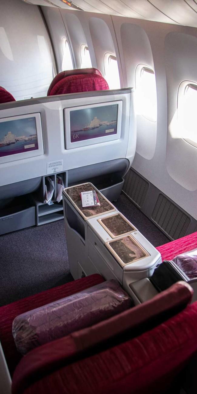 Qatar Airways Business Class Boeing 777-300ER 2-2-2 Konfiguration-2