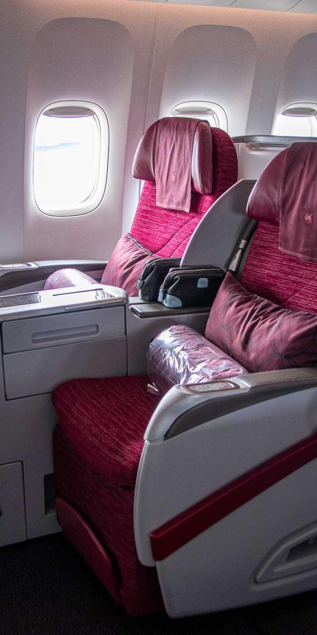 Qatar Airways Business Class Boeing 777-300ER 2-2-2 Konfiguration