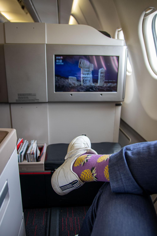 Turkish Airlines A330 Business Class SItz und Kabine-2