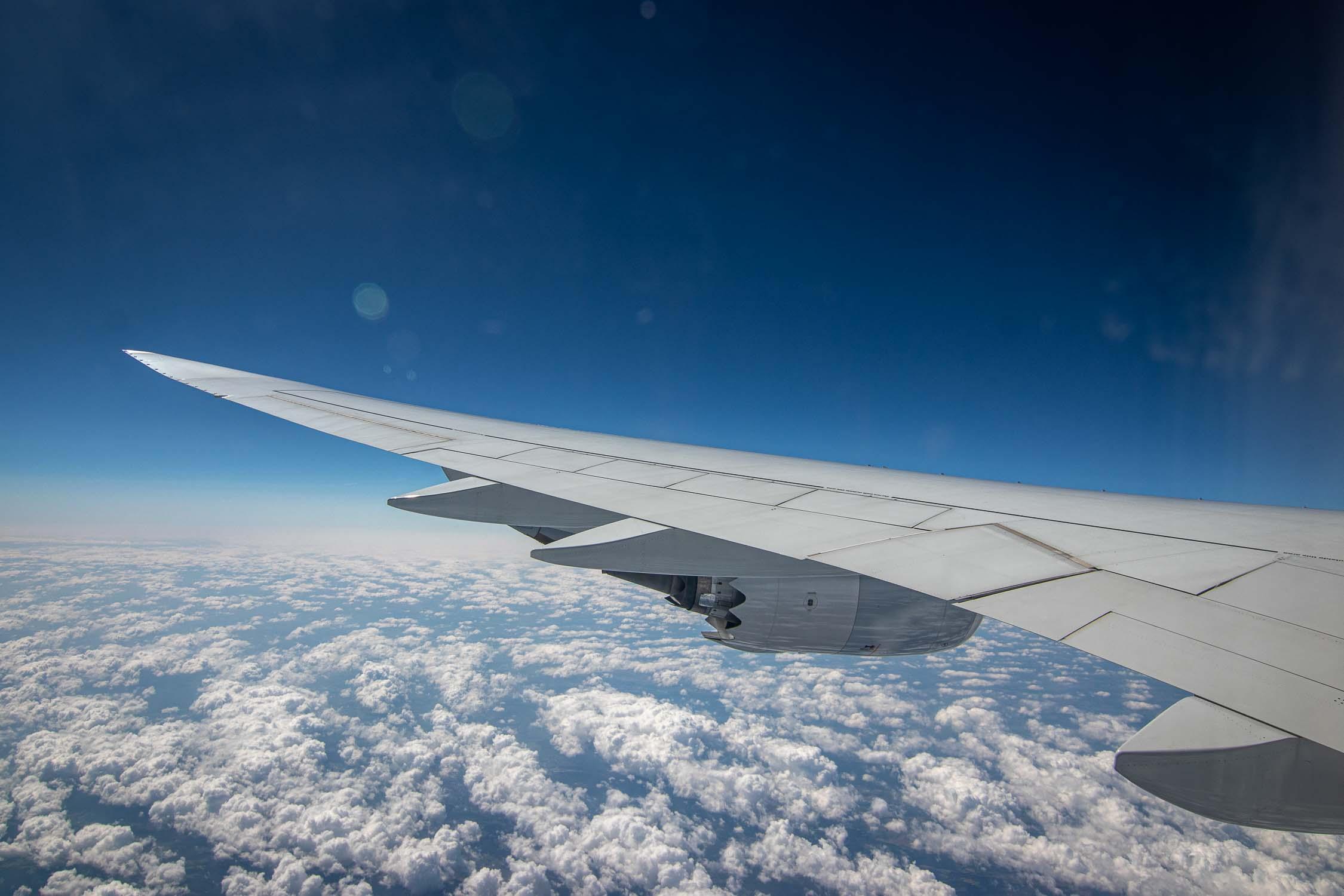 Lufthansa Boeing 747-8 Wing View-3