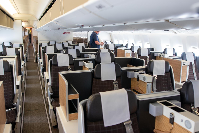 Swiss Boeing 777 Business Class Sitz-2