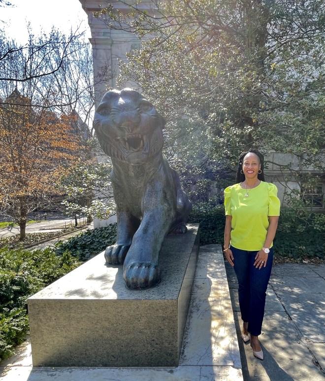 lion sculpture Princeton University
