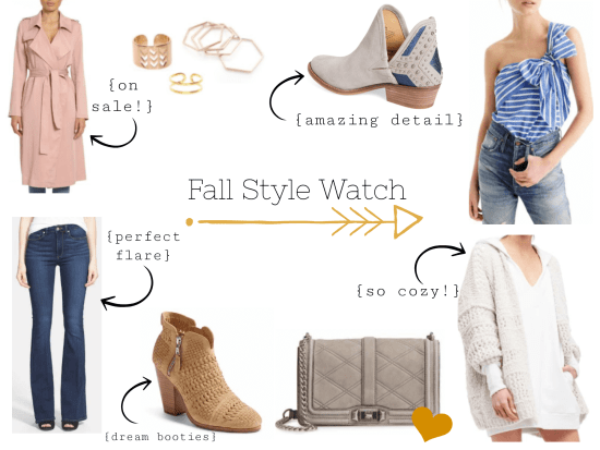Fall style watch product collage