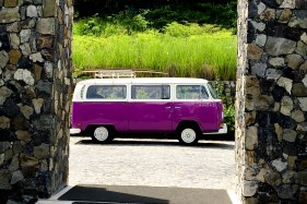 Gorgeous Purple Van greeted us at the entrance of the hotel