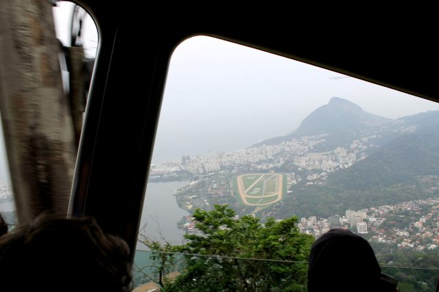 Tram ride up to the mountain top!