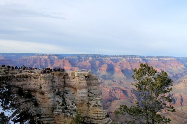 Crowds at Mather Point. Pretty full for the month of December I would say!