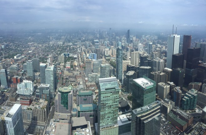 Spectacular view form the CN Tower