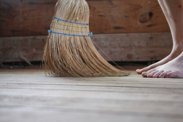beware of sweeping over thy foot